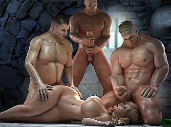 Three some gangbang