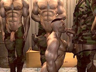 Military gay 3d